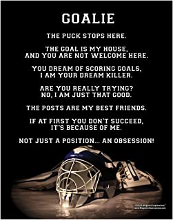 """Posters and Prints by Magnetic Impressions Ice Hockey Goalie Helmet 13.75"""" x 17"""" Vinyl Wall Decal"""
