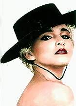 Madonna Costume 3D Poster Wall Art Decor Print   11.8 x 15.7   Lenticular Posters & Pictures   Memorabilia Gifts for Guys & Girls Bedroom  Rebel Heart Tour Vinyl & True Blue Pop Music Album Cover