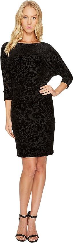 Adrianna Papell - Blouson Burnout Velvet Dress