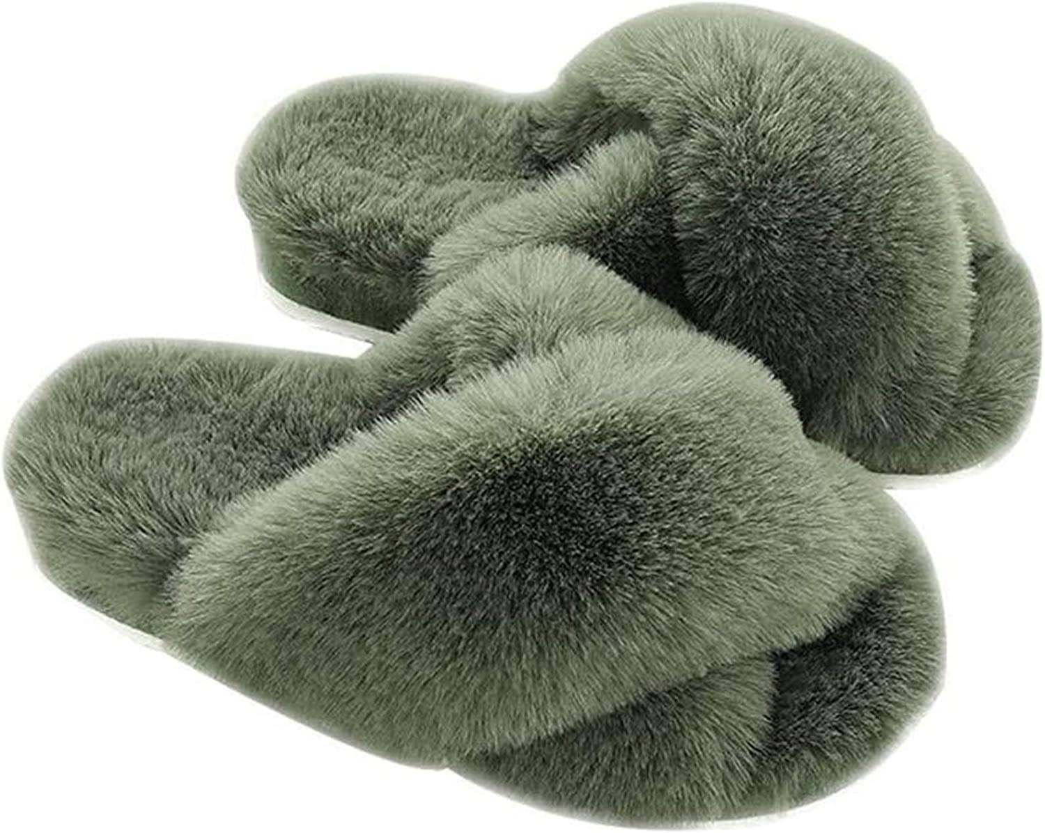 Winter Fluffy Slippers for Womens Fees free!! House Fuzzy M Max 69% OFF Slides