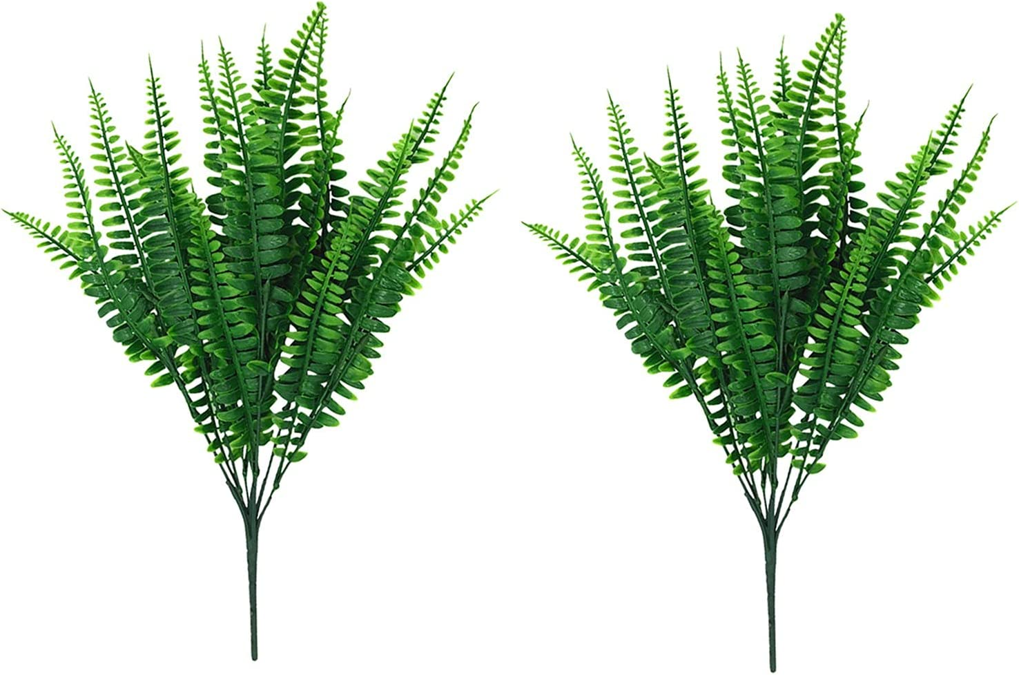 2 Bundles Artificial Greenery Plants Outdoor Fake Jacksonville Mall Plastic Large discharge sale Bouque