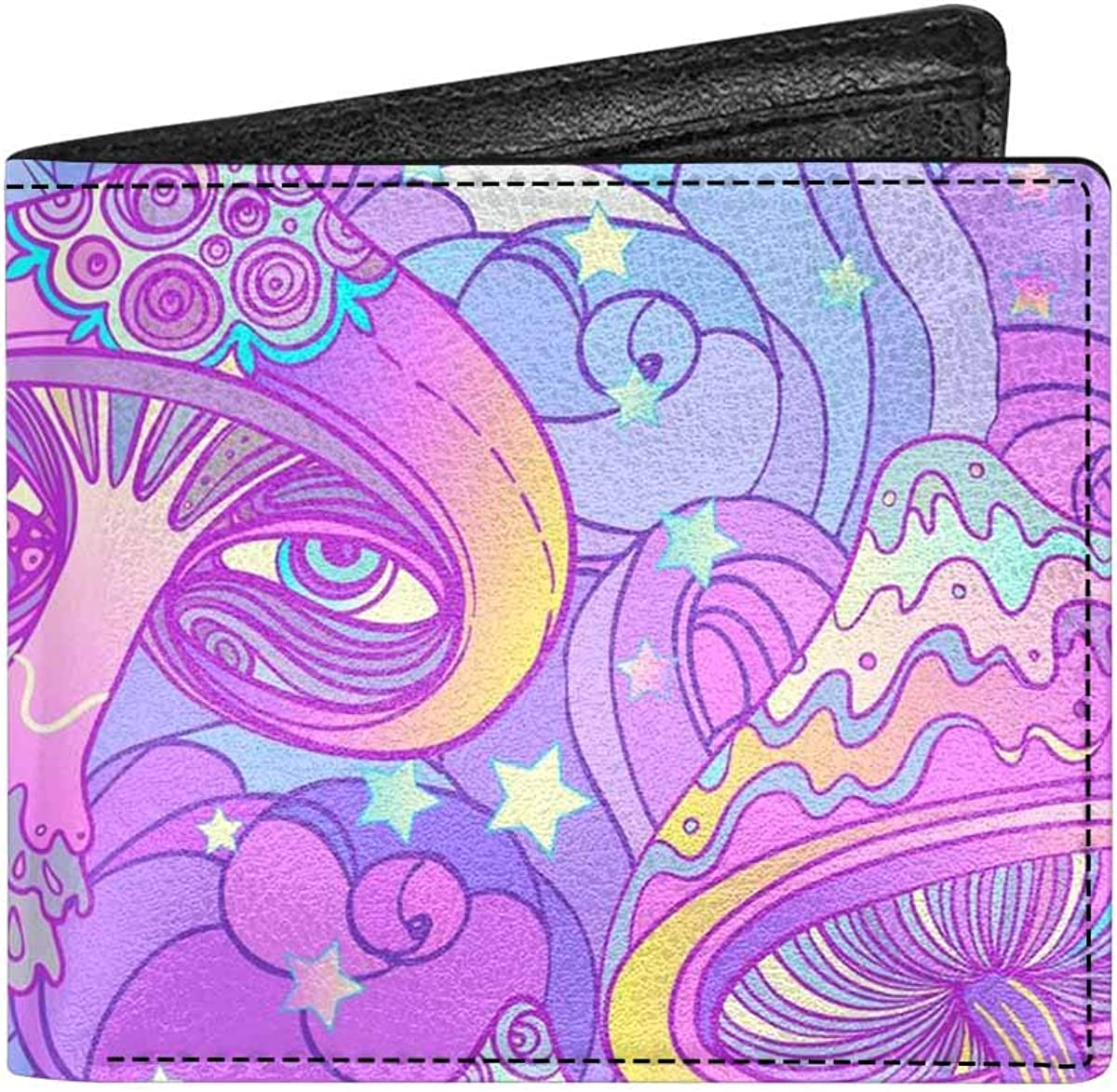 INTERESTPRINT Lotus Flowers Background Classic PU Leather Bifold Wallet for Adults with Coin Purse