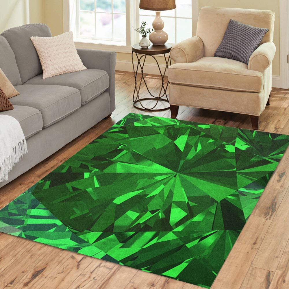 Indefinitely Pinbeam Area Rug Green Abstract Beautiful Emerald Bla Recommendation Diamond 3D