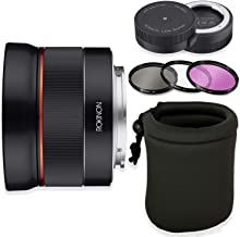 Rokinon AF 24mm f/2.8 FE Lens for Sony E-Mount Cameras with Sony Lens Station + HD Filters & Lens Case
