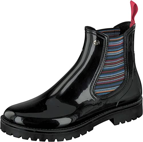 GOSCH zapatos - botas de Caucho para mujer negro negro