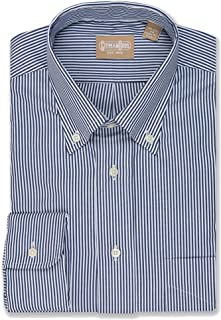 EZ Tuxedo Gitman Big & Tall Button Down Bengal Stripe Navy Dress Shirt
