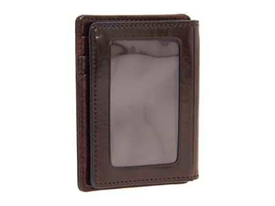 Bosca Old Leather Collection Front Pocket Wallet (Dark Brown Leather) Bill-fold Wallet