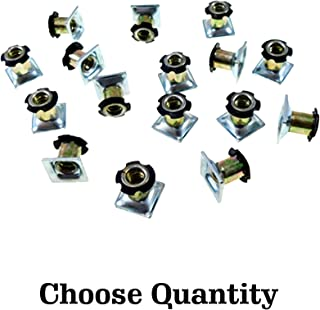 Square Tubing 3//8-16 Thread 4 Pack Metal Tubing Threaded Star Threaded Adapter Square Metal Tubing Super-Deals-Shop OD Threaded Inserts for 1