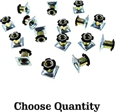 Threaded Inserts for Square Tubing - Metal Threaded Star Type Insert 5/8