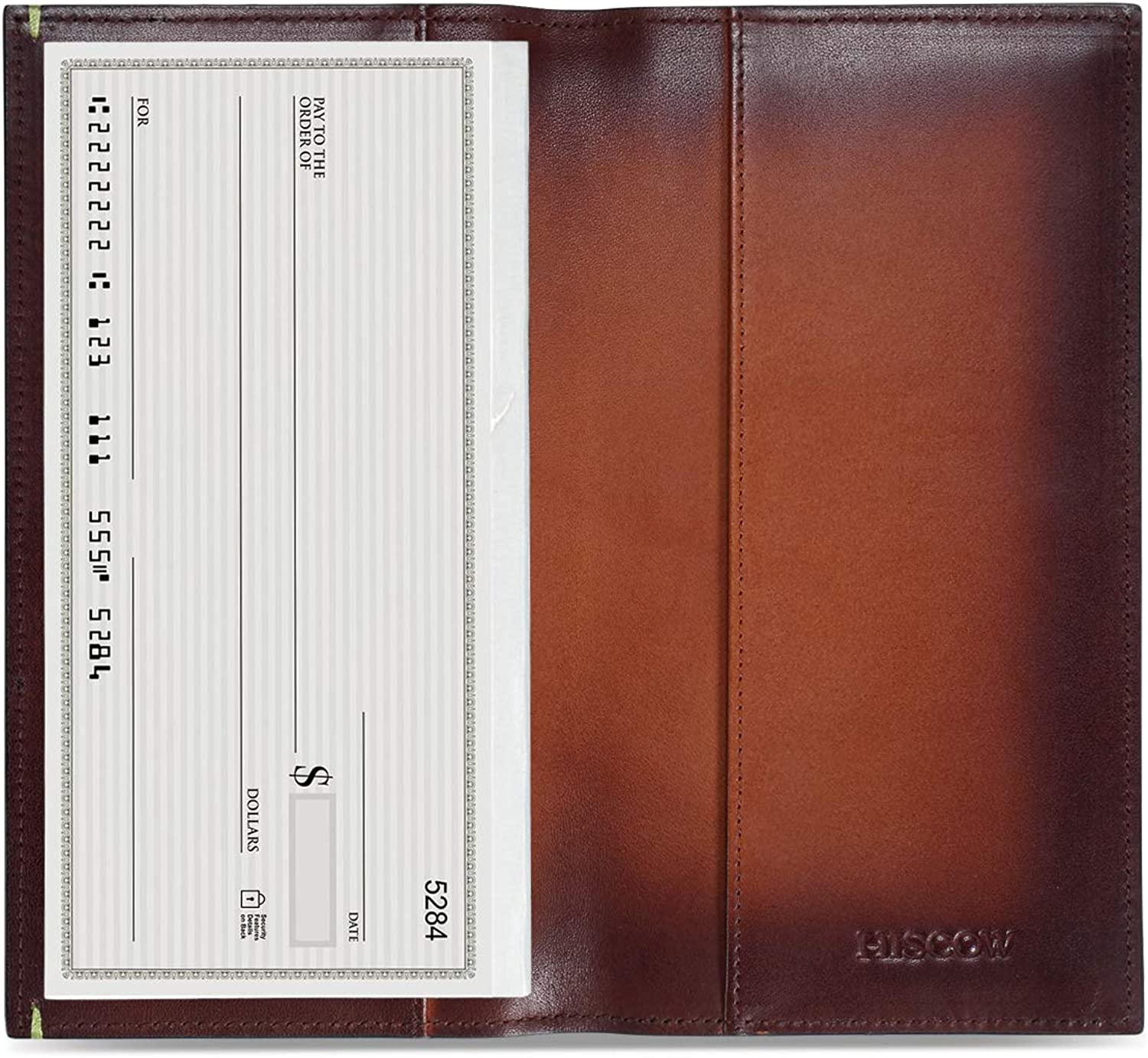 HISCOW Classy Standard Checkbook Cover with Free Divider  Italian Calfskin