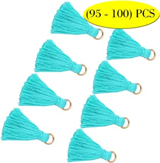 Wholesale Mini Tassel Charms Tiny Short Cotton Thread Tassels Bulk for DIY Earrings Crafts and Jewelry Making (95-100PCS)
