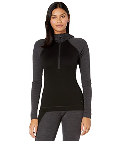 Smartwool Merino 250 Base Layer 1/2 Zip Hoodie (Black) Women