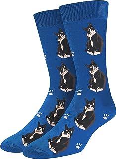 SOCKFUN Funny Novelty Cat Goat Corgi Socks Shark Flamingo Animals Gift Socks For Men
