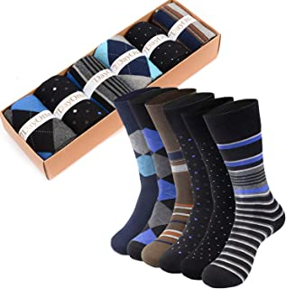 Modal Odor Resistant Cotton Business Dress Men's Crew Socks 6 Pack