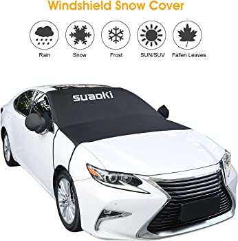 SUAOKI Windshield Sun Shade and Snow Cover Car Windshield Guard