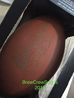 Autographed Signed Reggie White Football 75Th Anniversary Replica Beckett Authentic Loa Packers Hof