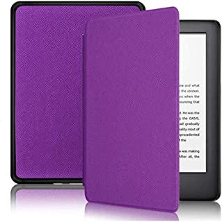 CASZONE Flip Case for All-New Kindle 2019 with Hand Grip (10th Gen - 2019 Release), Ultra Slim Thin PU Leather + PC Hard B...
