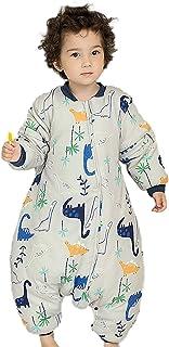 mono de invierno para ni/ños de 2,5 tog Saco de dormir para beb/é para todo el a/ño con pies para ni/ños y ni/ñas color blanco 12//24 meses