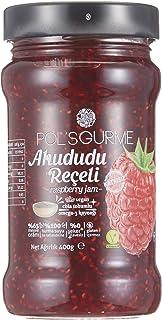 Pol's Gurme Chia Tohumlu , %65 Meyve Oranlı Şeker ilavesiz Hurma Suyu İle Tatlandırılmış Ahududu Reçeli 400 gr