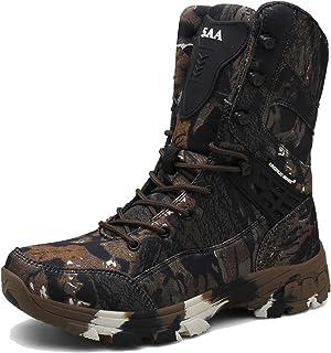 Scarpe da Uomo Sportive tattiche da Esterno Scarpe da Ginnastica Alte da Trekking indossabili con Lacci Calzature Stivalet...