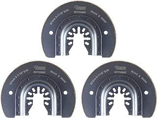 3 x 87mm SabreCut SP90B_3 cuchillas de metal rápido ajuste para Dewalt Stanley Black and Decker Bosch Fein (No-StarLock) Makita Milwaukee Parkside Ryobi Worx Multi herramienta accesorios