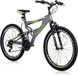 """Falcon 26"""" Mountain Bike 21 Speed with Full Dual Suspension, Lightweight Aluminum Frame Mountain Bicycle for Adults Boys"""