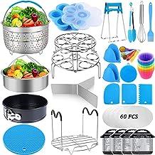 101 Pcs Pressure Cooker Accessories Set Compatible with Instant Pot 6 qt 8 Quart, 2 Steamer Basket, Springform Pan, Stacka...