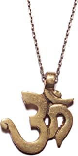 We Are All Smith Brass Om Symbol Necklace 28 Inches
