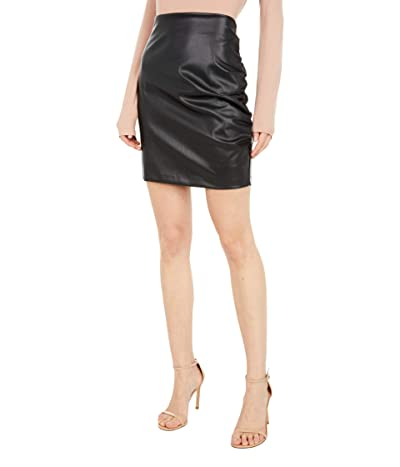 Bishop + Young Side Ruche Faux Leather Skirt