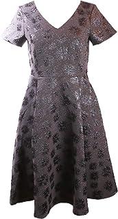 Guido Maria Kretschmer Jacquard Kleid modisches Damen Party-Kleid im glänzenden Design Freizeit-Kleid Cocktail-Kleid Anthrazit