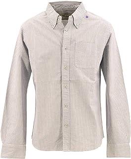 [SWEEP!! LosAngeles スウィープ!! ロサンゼルス] メンズ コットン オックスフォード ストライプ ボタンダウンシャツ OXFORD STRIPE SWSDOXST-04 NAVY(ネイビー)
