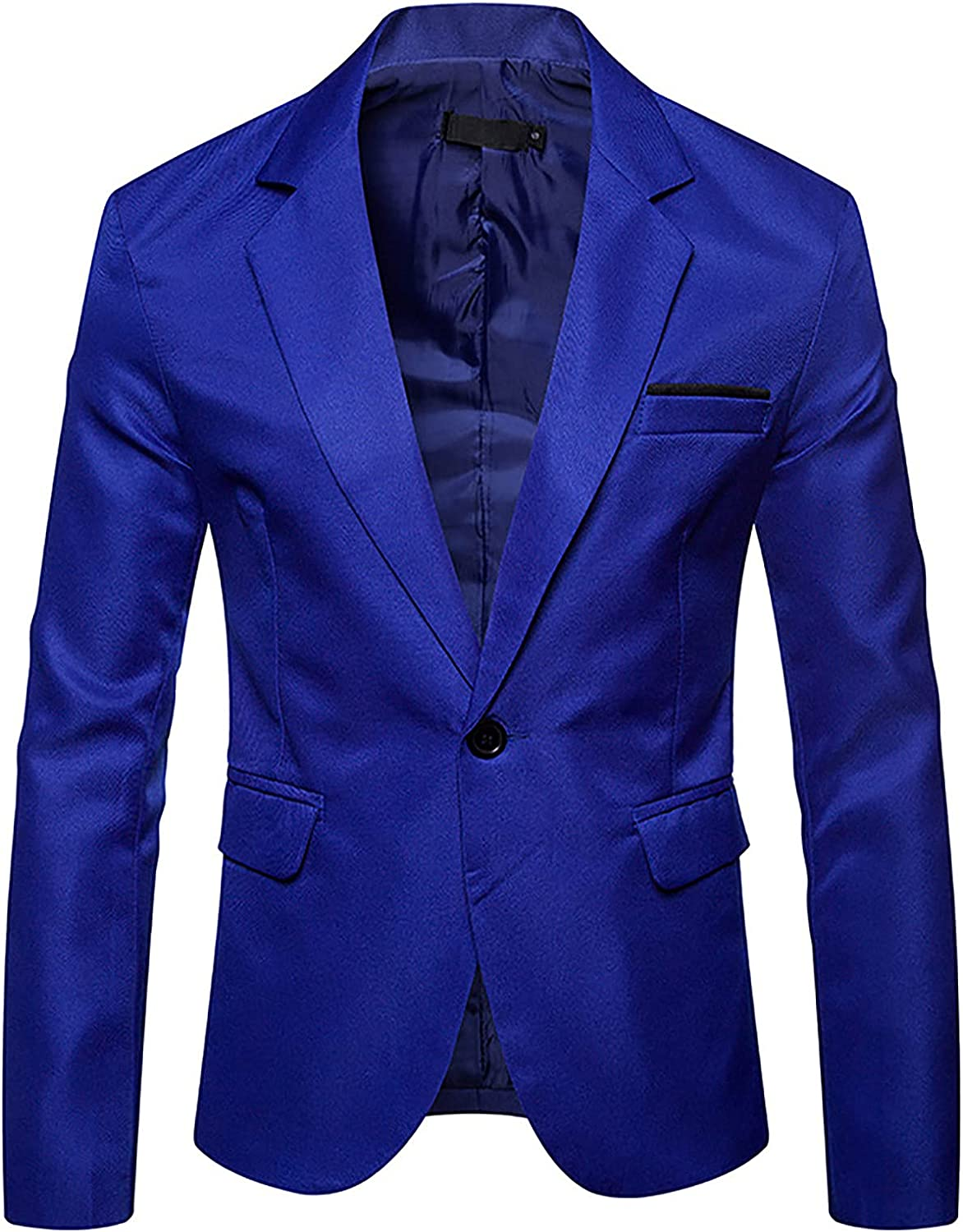 Men's Suit Jacket Casual Solid Tuxedo Jackets One Button Stylish Dinner Jacket Wedding Party Dress Suit Blazers