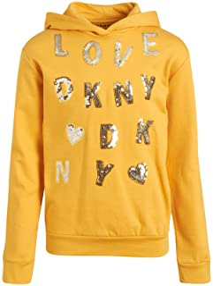 DKNY Girls Sweatshirt - Fleece Pullover Hoodie with Kangaroo Pocket
