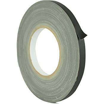 WOD GTC12 Gaffer Tape, Black Low Gloss Finish Film, 1/2 inch x 60 yds. Residue Free, Non Reflective Cloth Fabric, Secure Cords, Water Resistant, Photography, Filming Backdrop, Production