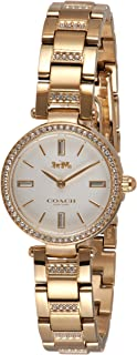 Coach WOMEN'S WHITE DIAL IONIC THIN GOLD 1 STAINLESS STEEL WITH CRYSTAL WATCH - 14503098