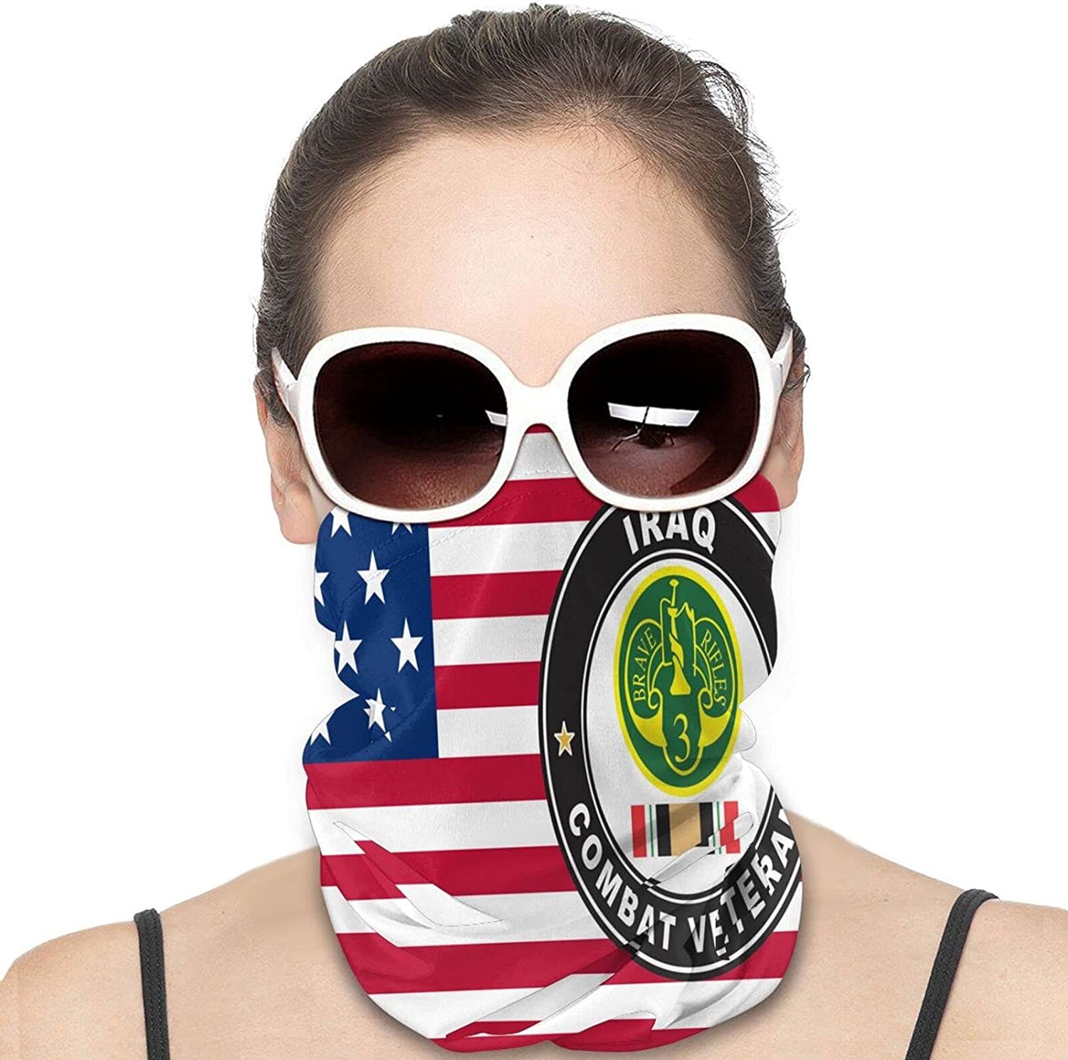 Us Army Veteran 3rd Armored Cavalry Round Neck Gaiter Bandnas Face Cover Uv Protection Prevent bask in Ice Scarf Headbands Perfect for Motorcycle Cycling Running Festival Raves Outdoors