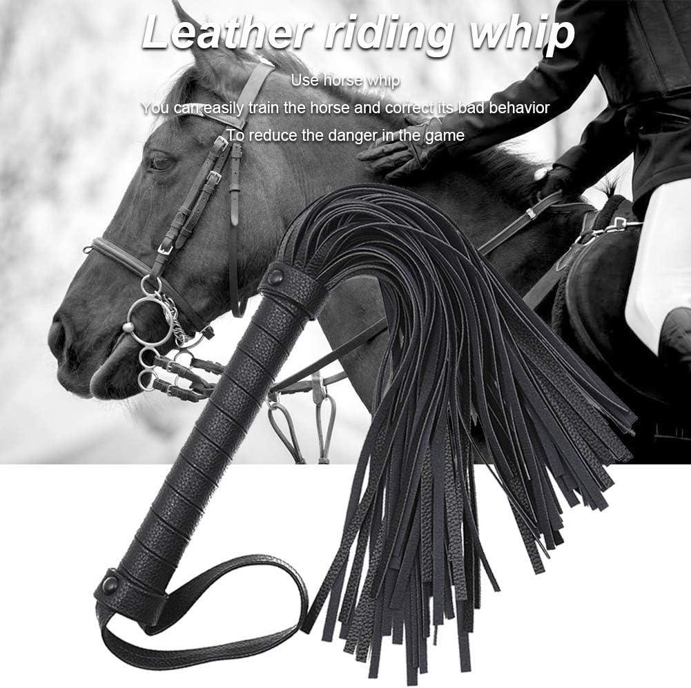 Ecopelle Equitazione Corto Outdoor Allenamento Gara Pratica Equestrianism Cavallo Corto Cavallo Frusta Nero
