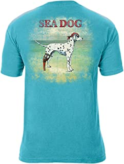 Sea Dog Ocean is Calling Cotton T-Shirt, Lagoon Blue, 2XL