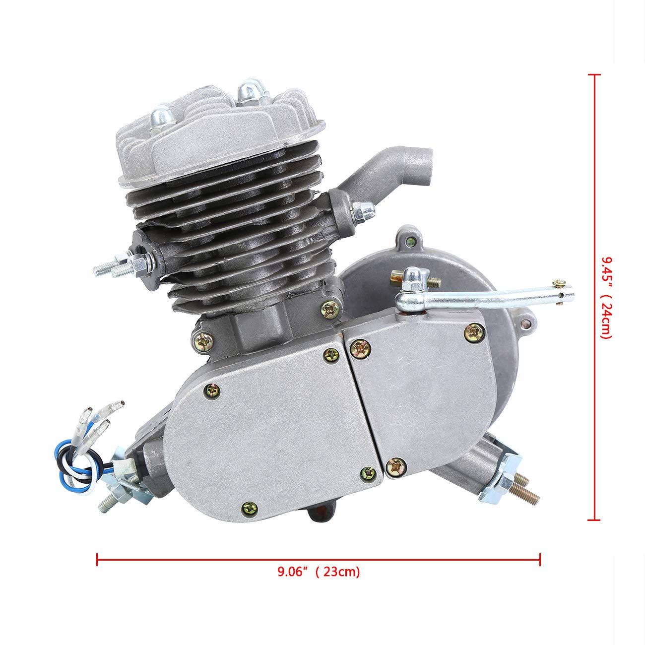 Ambienceo 80cc 2 tiempos Ciclo de pedal Gasolina Gas Motor Kit de ...