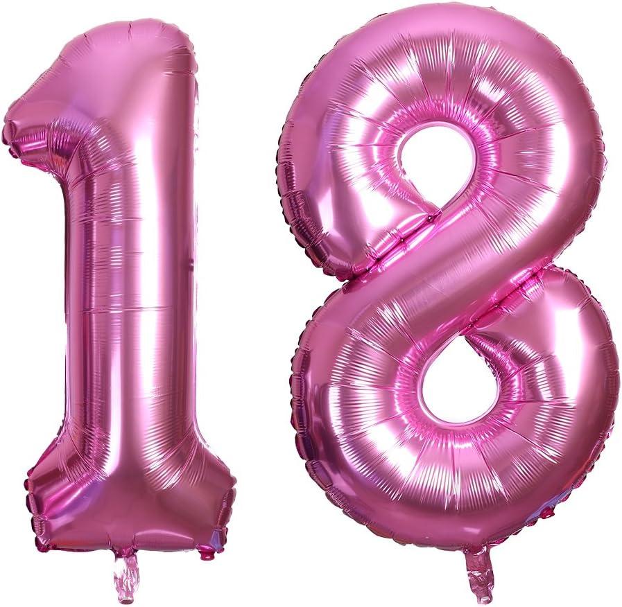 Smarcy 40 Inch Jumbo Number 18 Balloon Birthday Party Celebratio