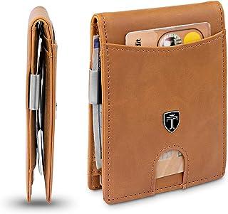 TRAVANDO Slim Wallet with Money Clip SEATTLE RFID Blocking Card Mini Bifold Men