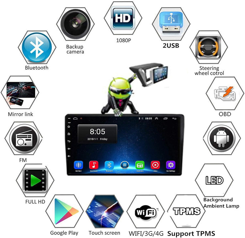 TypeBuilt Autoradio R/écepteur Multim/édia Car Radio Dab St/ér/éo 9 Pouces pour KIA Ceed CEED JD 2012-2016 Autoradio Bluetooth Main Libre avec Poste Radio Voiture Soutient USB FM AM RDS Carplay