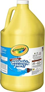 Crayola Washable Yellow Paint, 1 Gallon Size, Painting Supplies in Bulk