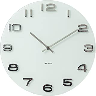 Karlsson Vintage Wall Clock, White - Modern Decorative Round Clock for Home Decor