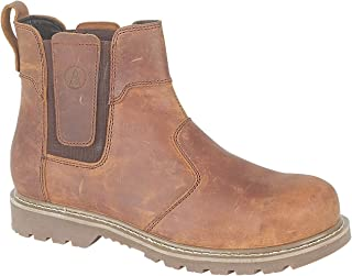 Amblers Mens Abingdon Pull On Leather Dealer Boot Brown