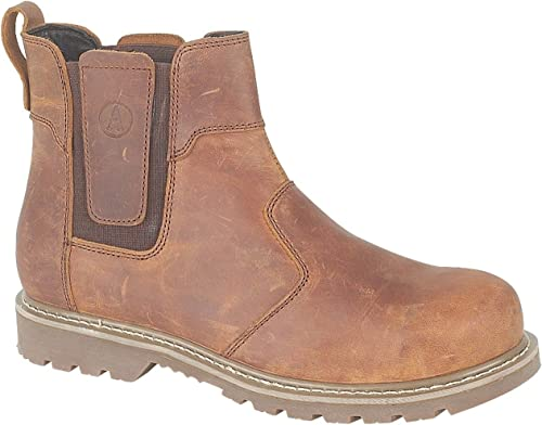 Amblers Mens Abingdon Pull On Leather Dealer Stiefel braun