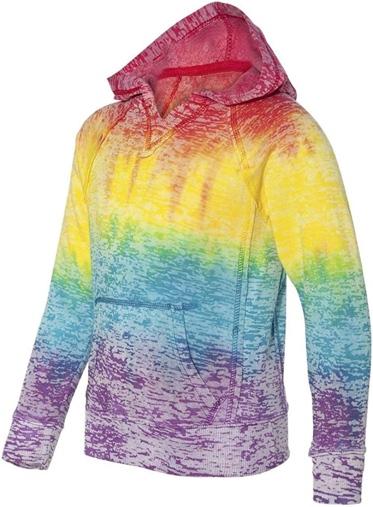 Girls Rainbow Stripe V-Neck Burnout Hoodies in Youth Sizes S-XL Koloa Surf Co