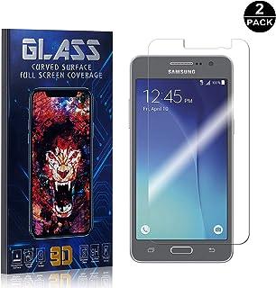 Galaxy Grand Prime Screen Protector, UNEXTATI® Premium HD [Anti Scratch] [Anti-Fingerprint] Tempered Glass Screen Protector Film for Samsung Galaxy Grand Prime (2 PACK)
