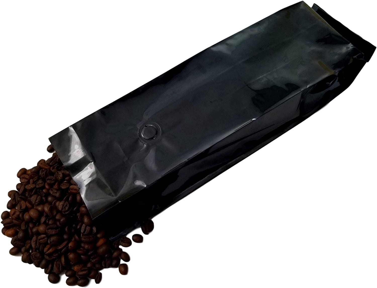 16 oz Foil Coffee Pouch Free Shipping Cheap Bargain Gift - 1 mil Mylar lb Gloss Black Popular products 13