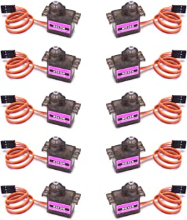RGBZONE 10Pcs MG90S Metal Geared Micro Servo Motor 9G for Helicopter Airplane Boat Smart Robot Car Controls